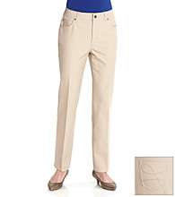 Laura Ashley® Petites' Bi-Stretch Twill 5-Pocket Pant