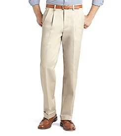 Izod® Men's Big & Tall Classic Fit Pleated American Chino Pants