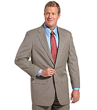 Silver Edition® Men's Big & Tall Nailshead Suit Coat - Brown