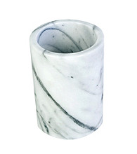 Fox Run Craftsmen White Marble Utensil Holder