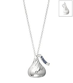 Sterling Silver Large Flat Back Hershey's Kiss Pendant