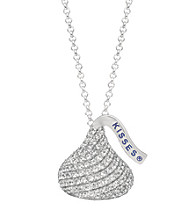 Sterling Silver with Cubic Zirconia Medium Flat Back Hershey's Kiss Pendant