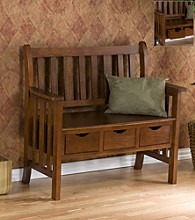 Holly & Martin™ Pecos 3-Drawer Country Bench - Oak