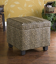 Holly & Martin™ Safari Leopard Print Storage Ottoman