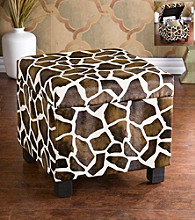 Holly & Martin™ Safari Giraffe Print Storage Ottoman