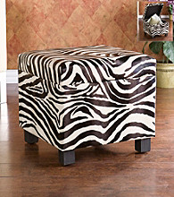 Holly & Martin™ Safari Zebra Print Storage Ottoman