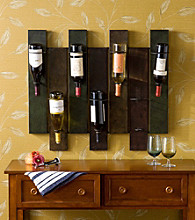 Holly & Martin® Santa Cruz Wall Mount Wine Rack - Earth Tone