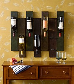 Southern Enterprises 7-Bottle Santa Cruz Wall Mount Wine Rack - Earth Tone