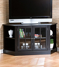 Holly & Martin™ Black Parkridge Corner Media Stand