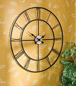 Southern Enterprises Black Lucas Decorative Wall Clock
