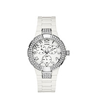 Guess Women's White Prism Sports Watch