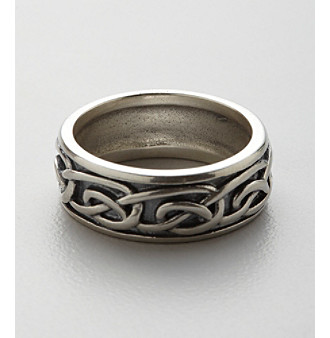Oxidized Sterling Silver Celtic Knot Design Ring