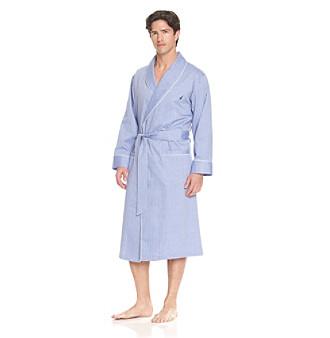 Nautica® Men's Herringbone Robe - Blue Bonnet