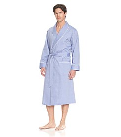 Nautica® Men's Blue Bonnet Herringbone Robe