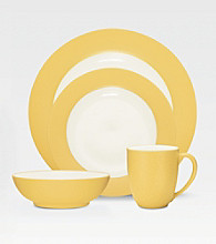 Noritake Colorwave Rim Mustard 4-pc. Place Setting