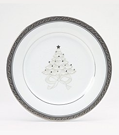 Noritake Crestwood Platinum Set of 4 Holiday Accent Plates