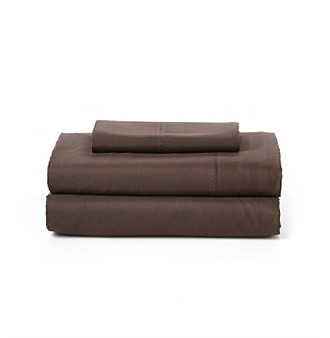 LivingQuarters Easy Care Microfiber Sheet Sets - Chocolate