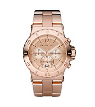 Michael Kors® Rose Goldtone Stainless Steel Watch