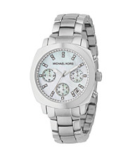 Michael Kors® Silvertone Stainless Steel Round Watch