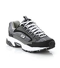 "Skechers® Men's ""Nuovo"" Athletic Shoe - Charcoal/Black"