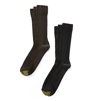 GOLD TOE® Men's Metropolitan 3 Pack Crew Socks