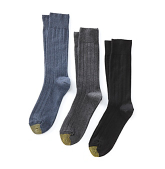 GOLD TOE® Men's 3-pk. Hampton Classic Dress Socks