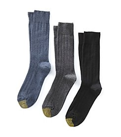 GOLD TOE® Men's 3-Pack Hampton Classic Dress Socks
