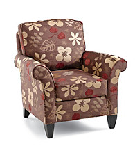 Southern Furniture Chocolate Floral Club Chair