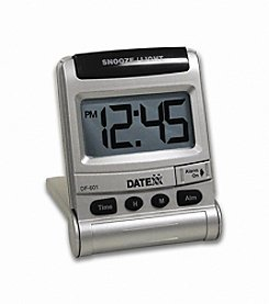 Datexx® Sentina Travel Alarm Clock with Flip Stand