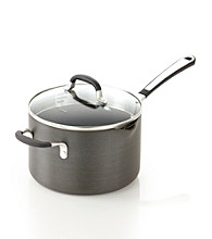 Simply Calphalon® 4-qt. Saucepan with Pour & Strain Cover