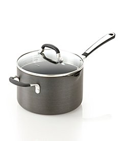 Simply Calphalon® 4-qt. Nonstick Saucepan with Pour & Strain Cover