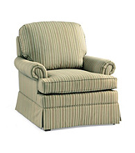 Emeraldcraft Pinkerton Green Stripe Club Chair