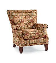Emeraldcraft Patton Multicolored Roll Arm Chair