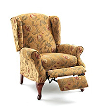 Lane® Heathgate High-Leg Floral Wing Recliner