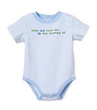 Cuddle Bear® Baby Boys' Blue Striped Short Sleeve