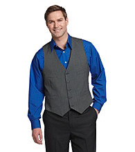 Kenneth Cole REACTION® Men's Pindot Vest - Black & White