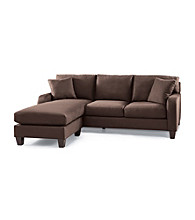 HM Richards Newberry Chocolate Microfiber Sofa with Chaise