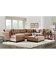 HM Richards Beckham Tufted Microfiber Living Room Furniture Collection