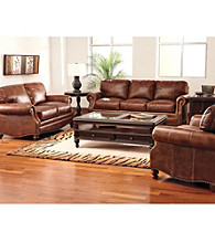 Lane® Carson Brown Leather Sofa Collection