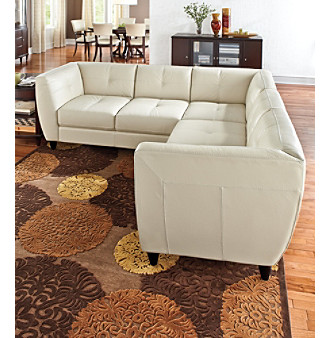 UPC 450100016898 Product Image For Chateau Du0027Ax Dominic Bone Leather  Sectional | Upcitemdb.