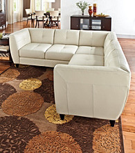 Chateau d'Ax Dominic Bone Leather Sectional
