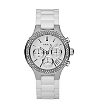DKNY® Women's Crystal and White Ceramic Watch
