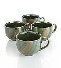 Sango Avanti Green Set of 4 Mugs