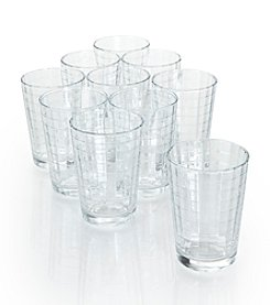 LivingQuarters Windowpane 10-pc. Juice Glass Drinkware Set