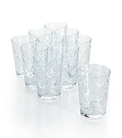 LivingQuarters Circle 10-pc. Juice Glass Drinkware Set