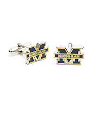Silvertone Michigan Wolverines Cufflinks