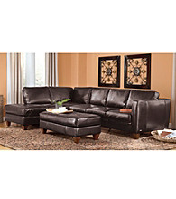Natuzzi Editions® Terni Brown Multi-Piece Leather Sectional