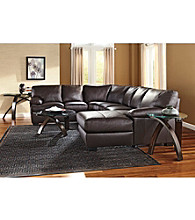 Natuzzi Editions® Florence Brown Multi-Piece Leather Sectional