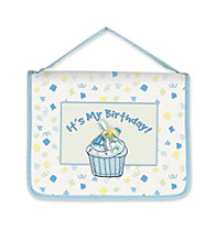 Stephan Baby Birthday Cupcake Photo Book - Blue
