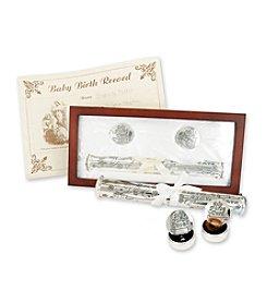 Stephan Baby Birth Certificate Holder Set - Silver